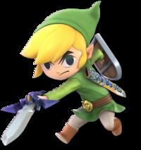 Art oficial de Toon Link en Super Smash Bros. Ultimate