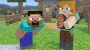 Steve y Alex en el escenario de Minecraft SSBU.png