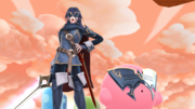 Lucina y Kirby en el Reino Champiñón U SSB4 (Wii U).png