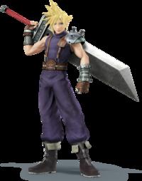 Art oficial de Cloud en Super Smash Bros. para Nintendo 3DS y Wii U
