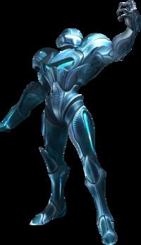 Art oficial de Samus Oscura en Metroid Prime 3: Corruption.