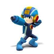 Artwork del Tirador Mii con el casco y traje de MegaMan.EXE SSB4.jpg