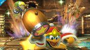 Rey Dedede al usar el Súper Salto Dedede SSB4 (Wii U).jpg