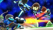 4 Miis Lanzadores en Galaxia Mario SSB4 (Wii U).jpg