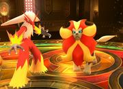 Blaziken y Pyroar SSB4 (Wii U).png