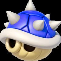 Art oficial del caparazón de pinchos en Mario Kart 8.