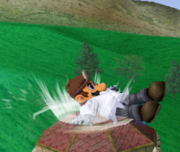 Ataque Smash hacia abajo de Dr. Mario (1) SSBM.png