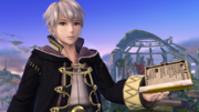 Daraen con un tomo en el Campo de batalla SSB4 (Wii U).png