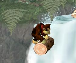 Donkey Kong siendo golpeado por un Klap Trap