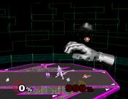 Master Hand bajo el efecto de un Bloque verde SSBM.png
