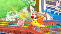 Peach usando su movimiento, Toad, en Super Smash Bros. for Wii U