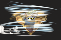 Vista previa de Supertornado en la sección de Técnicas de Super Smash Bros. Ultimate