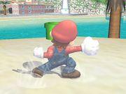 Ataque de recuperación de cara al suelo (2) Mario SSBB.jpg