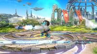 Tirador Mii usando el Misil en Super Smash Bros. for Wii U.