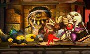 Donkey Kong junto a TAC y un Huerrero en la Smashventura SSB4 (3DS).jpg