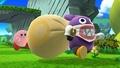 Kirby junto a Caco Gazapo SSB4 (Wii U).jpg