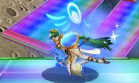 Palutena usando Supervelocidad en Super Smash Bros. para Nintendo 3DS.