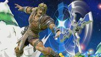 Simon lanzando la Cruz en Super Smash Bros. Ultimate
