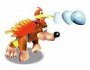 Arte oficial de Banjo y Kazooie usando el Disparo de Huevos en Banjo-Kazooie.jpg