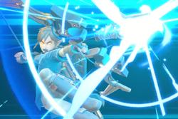 Vista previa del Arco y flecha ancestrales en la sección de Técnicas de Super Smash Bros. Ultimate