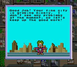 El Dr. Wright evaluando al jugador en SimCity.