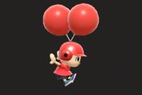 Vista previa de Casco de globos en la sección de Técnicas de Super Smash Bros. Ultimate