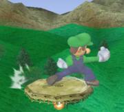Ataque de recuperación de cara al suelo de Luigi (1) SSBM.png