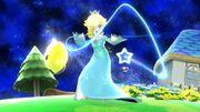 Estela realizando su Movimiento especial hacia abajo, Atracción Gravitacional SSB4 (Wii U).jpg