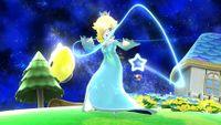 Estela usando la Antigravedad en Super Smash Bros. para Wii U