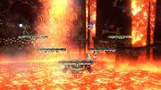 Samus, Sonic, Palutena y Link en Norfair SSB4 (Wii U).jpg