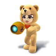 Artwork de la Tiradora Mii con el gorro y traje de oso.jpg