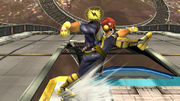 Ataque Smash hacia abajo Captain Falcon SSBB (1).png