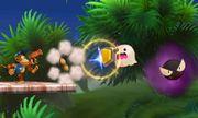 Gastly y un Fantasma atacando a Diddy Kong en la Smashventura SSB4 (3DS).jpg
