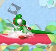 Ataque Smash hacia abajo de Yoshi (1) SSBM.png