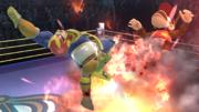 Captain Falcon usando Propulsión Falcon contra Diddy Kong en el Cuadrilátero SSB4 (Wii U).png