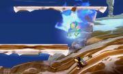 Bubble de hielo atacando a Duck Hunt en Smashventura SSB4 (3DS).jpg