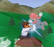 Lanzamiento delantero de Dr. Mario (2) SSBM.png