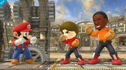 Comparación de tamaño de los Karatekas Mii SSB4 (Wii U).jpg