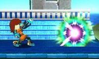 Tirador Mii utilizando la Esfera de plasma en Super Smash Bros. for Nintendo 3DS