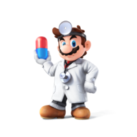 Artwork oficial de Dr. Mario en Super Smash Bros. para Nintendo 3DS y Wii U