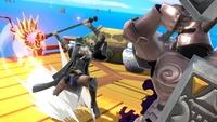 Byleth usando Aymr en Super Smash Bros. Ultimate.