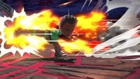 Karateka Mii usando Patada explosiva en Super Smash Bros. Ultimate