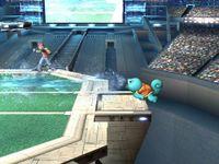 Squirtle usando Pistola agua en Super Smash Bros. Brawl