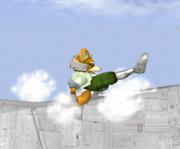 Ataque de recuperación de cara al suelo de Fox (2) SSBM.png