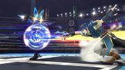 Lucario usando Doble equipo SSB4 (Wii U).jpg