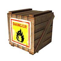 Art oficial de la caja explosiva en Super Smash Bros. Brawl.