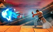 Ryu realizando Hadoken SSB4 (3DS).JPG