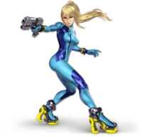 Art oficial de Samus Zero en Super Smash Bros. Ultimate