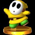 Trofeo de Shy Guy amarillo SSB4 (3DS).png
