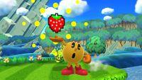 Pac-Man cargando el movimiento en Super Smash Bros. para Wii U